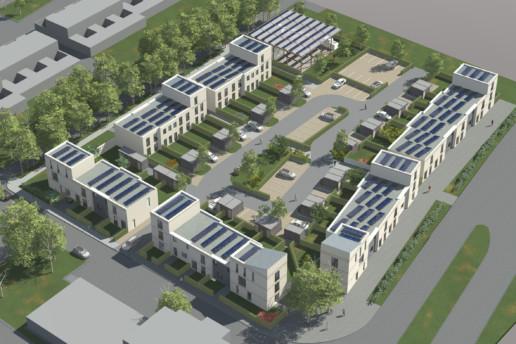 Impressie heldenhof emmen woningbouw