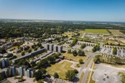 Dronefoto Heldenhof te Emmen
