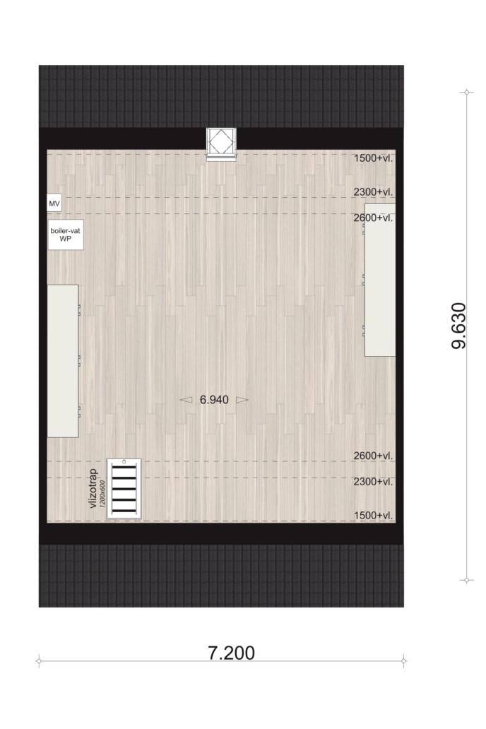 Schipperswoning Type 4, eerste verdieping