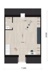 Schipperswoning Type 5, eerste verdieping