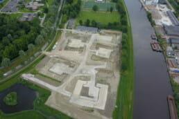 Droneshot realisatie AZC COA Delfzijl