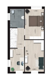 Herenhuis Type 3A, eerste verdieping