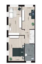 Herenhuis Type 7, eerste verdieping