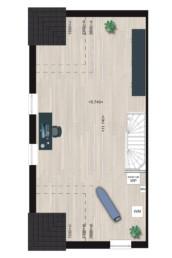 Herenhuis Type 7, tweede verdieping