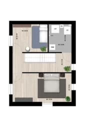 Type B1, tweede verdieping, Heldenhof