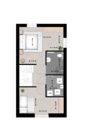 Type B, tweede verdieping, Heldenhof